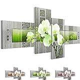 Bilder – Wandbild - Vlies Leinwand - 100 x 50 cm - Orchidee - Kunstdrucke – mehrere Farben und Größen im Shop - Fertig Aufgespannt !!! 100% MADE IN GERMANY !!! - Blume – Abstrakt 204642b