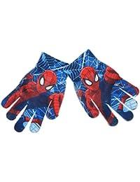 Guantes en tejido para niño impresos Spider-Man azul talla única (3–8años)