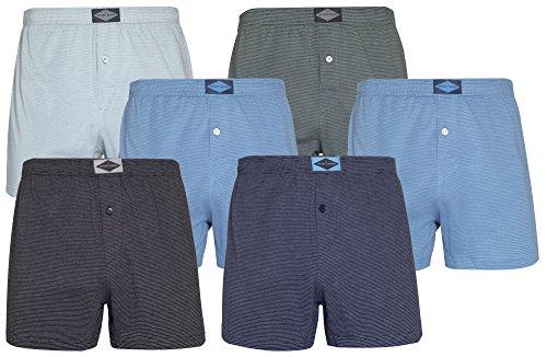 sportmann 6er-Pack Boxershorts einfarbig Retroshorts Übergröße Herrenunterwäsche (L, Variante 3)