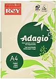 Rey Adagio Ramette de 250 feuilles papier couleur pour imprimante laser/jet d'encre/copieur 160g Format A4 ivoire