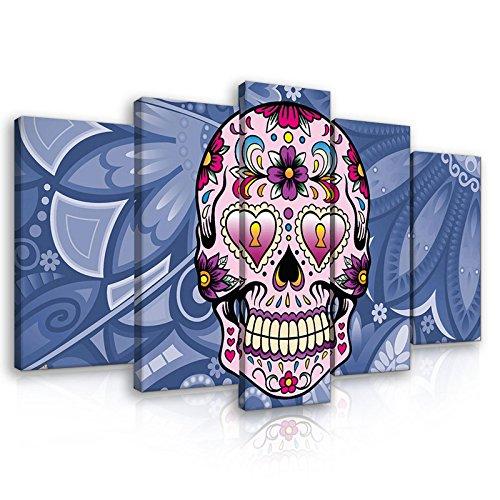 FORWALL Lienzo de Impresión–cuadro de colores cráneo...
