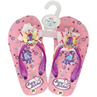 Lucy Locket Pink Sequin Fairy Kids Flip Flops Sandals Shoes Size 26 / UK Size 8