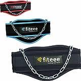 Dip della cintura di fiteee–Cintura per sollevamento pesi, palestra, Fitness, Dip della cintura, ginnastica, Sollevamento Pesi Cintura per pesanti DIPS e trazioni–per uomini e donne, Black