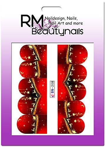 nter Nikolaus Fullcover Nagel Sticker Nailart Nageldesign BN208 ()