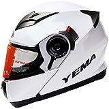 Yema YM-925 Motorradhelm Klapphelm mit Doppelvisier