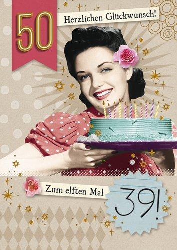 Postkarte A6 +++ LUSTIG von modern times +++ ZUM ELFTEN MAL 39 GOLD +++ BK.EDITION © Pigment Productions Ltd