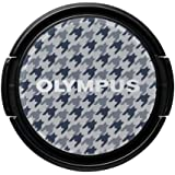 Olympus V6540034W000 Lens Cap LC-37PR Gray Check (Gray, White)