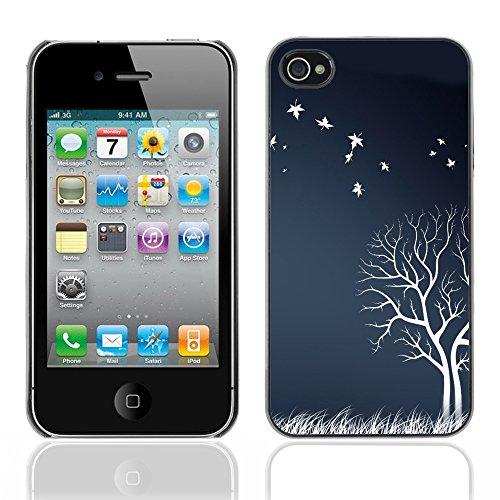 Graphic4You Leaves Falling From Tree Autumn Theme Design Harte Hülle Case Tasche Schutzhülle für Apple iPhone 4 und 4S Design #20