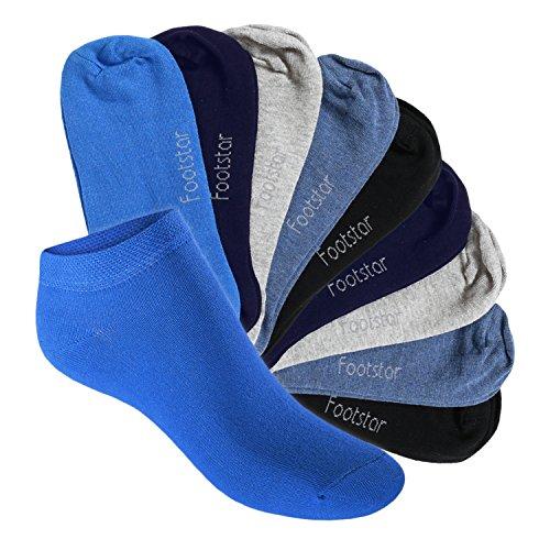 10 Paar SNEAK IT! KIDS Kinder Sneaker Socken für Mädchen & Jungen Jeanstöne-31-34