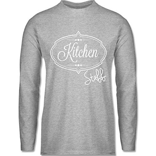 Shirtracer Küche - Kitchen Staff Küchenhelfer - Herren Langarmshirt Grau Meliert