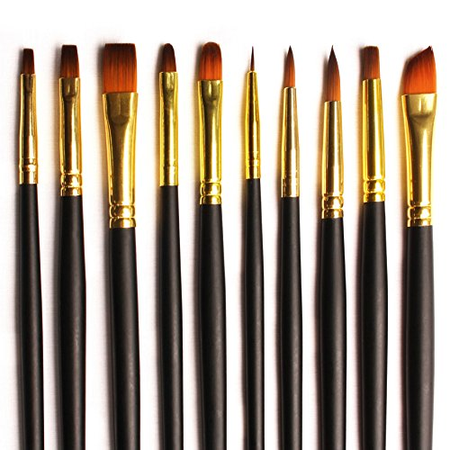 artists-brush-set-of-10-bespoke-gold-nylon-assorted-paint-brushes-for-acrylics-watercolour-oil-premi