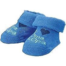 Baby Mädchen Jungen Erstlings Söckchen Strümpfe Sneaker Socken für 0-5 Monate in Geschenkbox Blau Oma Opa