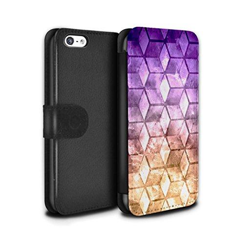 Stuff4 Coque/Etui/Housse Cuir PU Case/Cover pour Apple iPhone 5C / Multipack Design / Cubes colorés Collection Violet / Orange