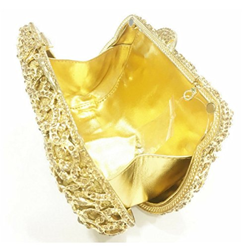 Frizione Delle Donne Borse Di Lusso Di Cristallo Del Frizione Sacchetti Di Sera Gold