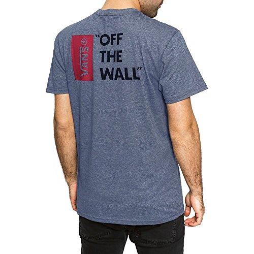 Vans Herren, Kurzarm Shirt, VANS OFF THE WALL III Heather Navy