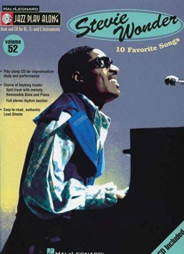 Jazz Play Along Vol.52 Stevie Wonder Bb, Eb, C Inst. CD (Jazz Play-Along Series)