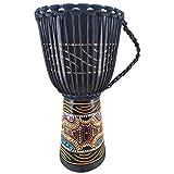 60cm Profi Djembe Trommel Bongo Drum Buschtrommel Percussion Motiv Buntes Muster Afrika Art - (Sehr gute Trommel für den Anspruchsvollen Trommler)