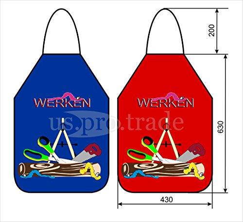 Papiererzeugnisse Uhlig 826 Werkenschürze farblich sortiert, Malschürze, Werkschürze, Bastelschürze blau/rot/grün/orange
