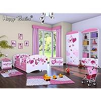 """5-teiliges Set Jugendzimmer Kindermöbel """"sinkende Herzen"""" Kinderbett für Mädchen - preisvergleich"""