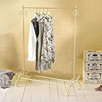 Shabby Chic Clothes Garment Rail Metal Ornate Vintage Style Hanging Stand