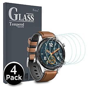Ferilinso Protector de Pantalla para Huawei Watch GT, [4 Pack] [Vidrio NO Templado] Protector de Pantalla de Repuesto de… 9