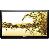 AOC E1659FWU 39,6 cm (15,6 Zoll) Monitor (USB, 8 ms Reaktionszeit, 16:9, 1366 x 768) schwarz