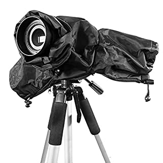 Ailiebhaus Professional DSLR Rain Cover, Foldable Waterproof Camera Protector Shield Coat Double Zipper for Canon Sony Panasonic Nikon and other DSLR Camera