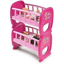 Lits superposés en bois pour poupée. Smoby - 220329 - Baby Nurse - Berceau  A Barreaux Jumeaux pour Poupon 81426758bc64