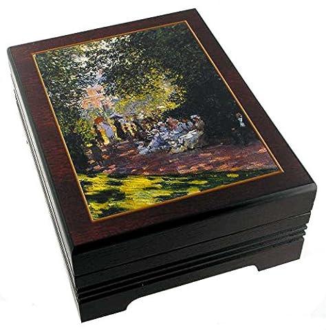 Spieluhr/Musik Schmuck Box mit der Reproduktion von ein Gemälde–Der Frühling (Antonio Vivaldi)