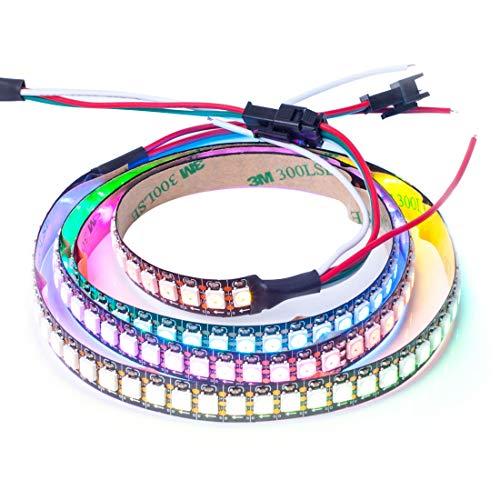 BTF-LIGHTING 1M 144 LEDs/Pixels/m WS2812B Schwarz PCB RGB adressierbare Strip Streifen mit 5050 SMD LEDs NichtWasserdicht IP30 Addressable Control
