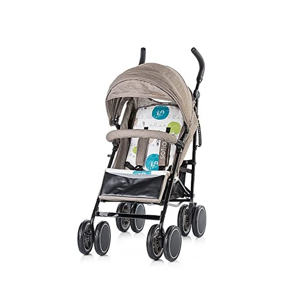 Chipolino Baby Stroller Sofia, Jeans Mocca Chipolino Suitable for babies aged 6+ months and weighing up to 15kg 3 position reclining backrest Adjustable leg rest covered with luxury breathable leather for easy cleaning 1