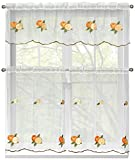 Best Window Elements Blinds - Window Elements Embroidered 3-Piece Kitchen Tier and Valance Review