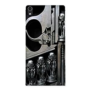Sharpshooter Three Gun Back Case Cover for Ascend P6