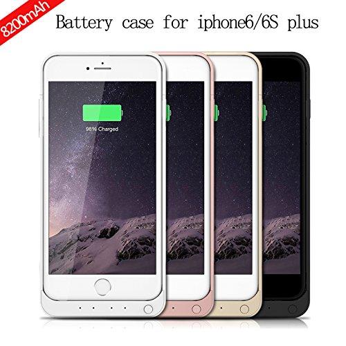 Custodia Batteria iPhone 6 / iPhone 6S Plus ,LifeePro 8200mAh Ultra Sottile Batteria esterna Coperture Caricabatteria incorporato Backup della banca di potenza Custodia protettiva extra
