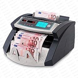 Stückzahlzähler Euro Geldscheine SR-3750 LCD UV/MG/IR von Securina24® (Schwarz - Silber - LED)