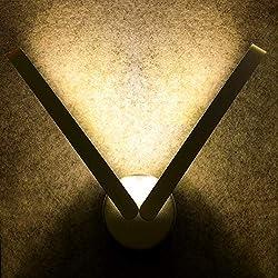 AGPTEK Aplique de Pared Lámpara LED 9W(3000K), Iluminación Luz Moderna pura Aluminio para Dormitorio, Sala de Estar, Cocina, Baño, Color del Cuerpo Plateado (3 Opciones de Luz Color dentro Blanco Cálido, Medio, Frío)