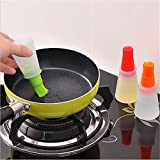 #10: Techsun Silicone Cooking Oil Bottle with Basting Brush (Random Colour)