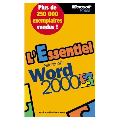 L'Essentiel Microsoft Word 2000 - livre de référence - français
