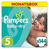 Pampers Baby Dry Windeln, Gr. 5 (11-23 kg), Monatsbox, 1er...