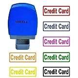 sseell tarjeta de Crédito Flash sello de goma auto entintado sello Re-Inkable trabajo de oficina empresa escuela estacionaria sellos con marco línea muchos colores disponible, color Red Ink