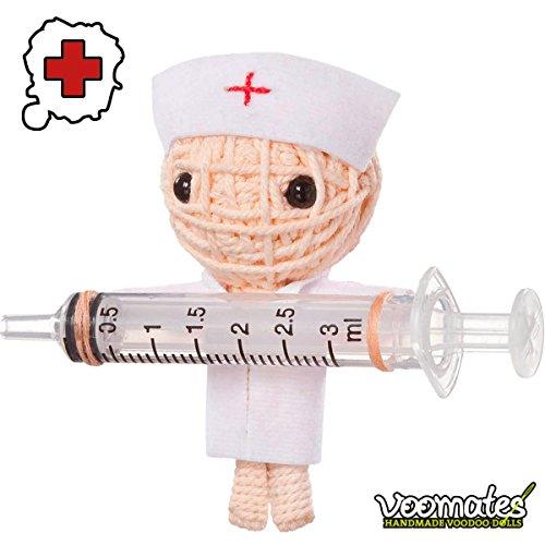 Voomates String Doll Voodoo-Puppen - handgemachte Sorgen-Püppchen Fingerpuppen - Die Handpuppen mit 81 Modelle - Get Well Soon (Krankenschwester)