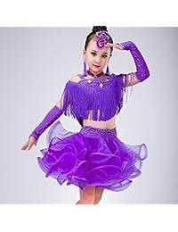SMACO-Concorso di costumi di danza Costume da Ballo Latino per Bambini  Costume da Ballo per Bambini Vestito da Ballo… 3c639cddb95