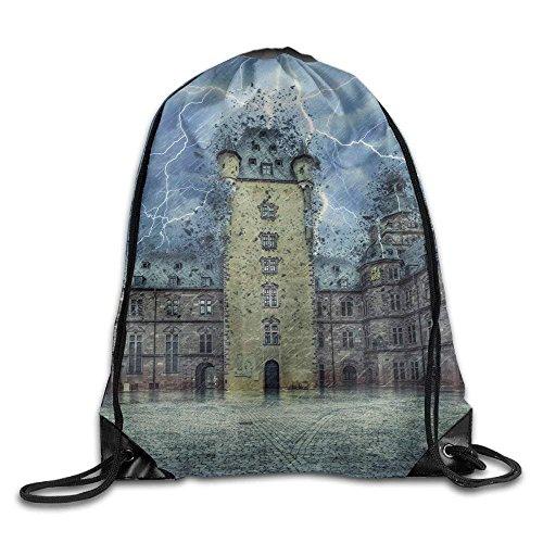 HiExotic Eco-Friendly Turnbeutel Hipster Unisex Fantasy Aschaffenburg Print Tote Sack Bag Rucksack Drawstring Backpack Travel Bag Daypack