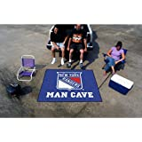 New York Rangers NHL Man Cave Tailgater Floor Mat (60in x 72in) by Fanmats