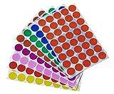 Dot adesivi in verde, giallo, rosa, viola, arancione, marrone, blu e rosso–colorato etichette 3/10,2cm pollici 19mm by Royal Green