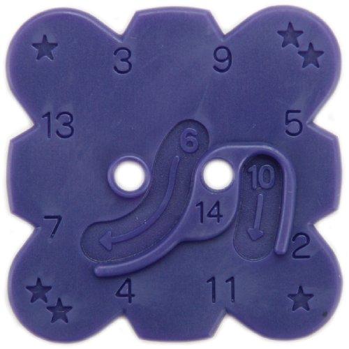 Clover 8503 Knotenschablone Knopfknoten Button Flower Cord
