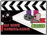 Einladungskarten zum Kindergeburtstag Kino 12 Stück