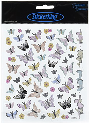 Papillons multicolores Stickers-Black Tip