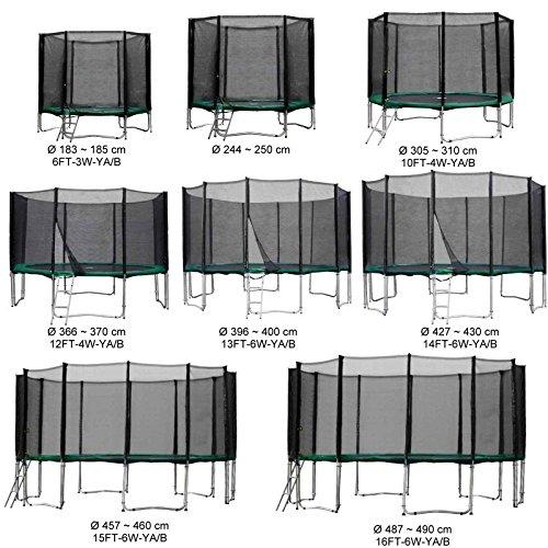 Baunsal GmbH & Co.KG Gartentrampolin Kindertrampolin Trampolin 366 bis 370 cm grün komplettes Set mit Sicherheitsnetz und Einstiegsleiter ...