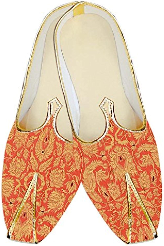 INMONARCH Salmón Indio Kheenkhap Hombres Zapatos de Boda MJ18308
